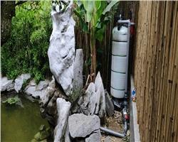别墅观赏鱼池塘用过滤器